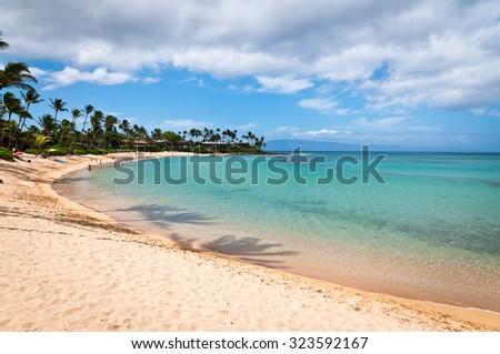 Napili beach on Maui island - stock photo