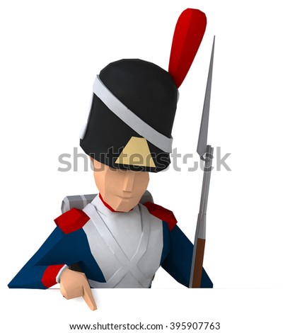 Napoleonic grenadier - stock photo