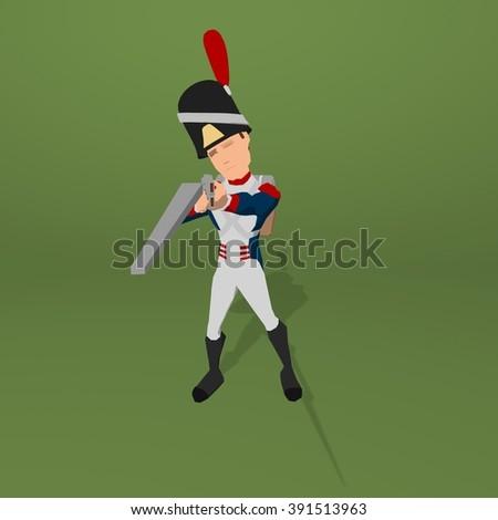 Napoleonic soldier - stock photo