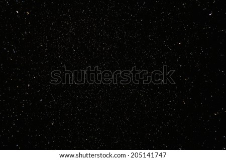 Narural real night sky stars background texture. - stock photo