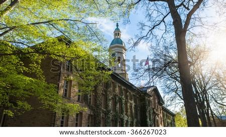 Nassau Hall in Princeton University, USA. - stock photo