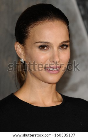 "Natalie Portman arrives for the world premiere of ""Thor: The Dark World"" at the Odeon Leicester Square, London. 22/10/2013 - stock photo"