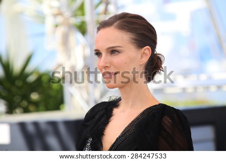 Natalie Portman attends the 'A Tale Of Love And Darkness' photocall during the 68th annual Cannes Film Festival on May 17, 2015 in Cannes, France. - stock photo