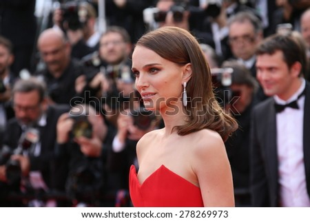 Natalie Portman attends the opening ceremony and 'La Tete Haute' premiere during the 68th annual Cannes Film Festival on May 13, 2015 in Cannes, France. - stock photo