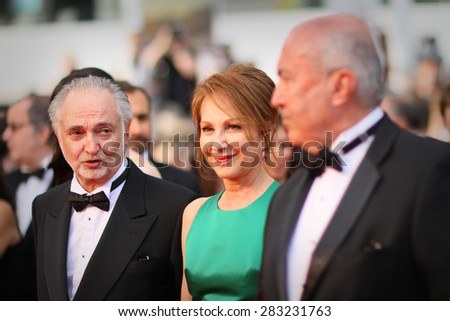 Nathalie Baye attends the 'Irrational Man' Premiere during the 68th annual Cannes Film Festival on May 15, 2015 in Cannes, France. - stock photo