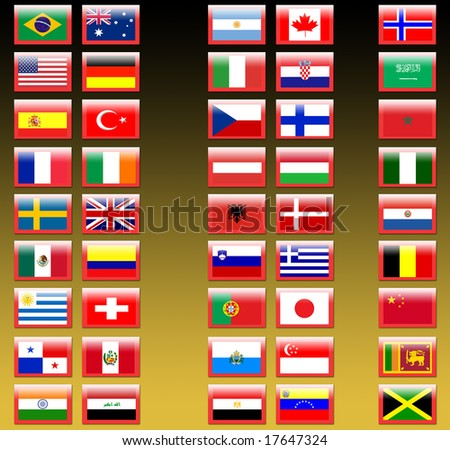 nation flags - stock photo