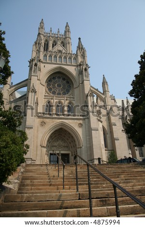 National Cathedral, Washington D.C. - stock photo