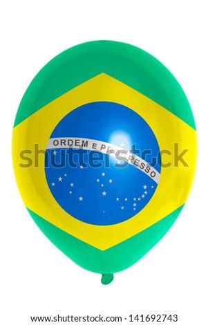 national flag of brazil balloon - stock photo