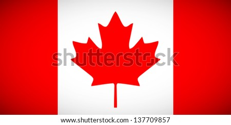 National flag of Canada with correct proportions and color scheme (raster illustration) - stock photo