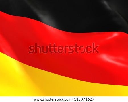 National Flag of Germany - stock photo