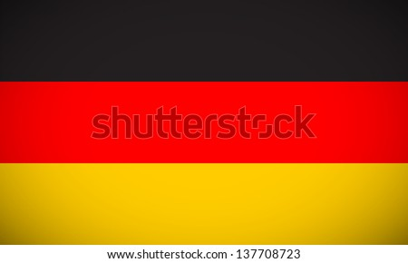 National flag of Germany with correct proportions and color scheme (raster illustration) - stock photo