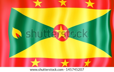 National flag of Grenada - stock photo