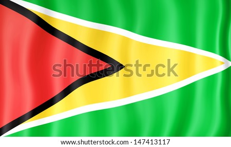 National flag of Guyana - stock photo