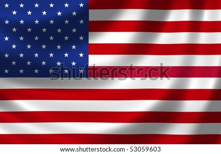 National Flag of the USA - stock photo