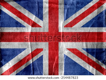 National flag of UK , the United Kingdom of Great Britain and Northern Ireland idea design - stock photo