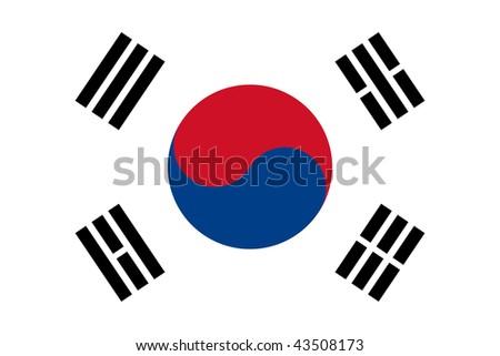 National Flag South Korea - stock photo