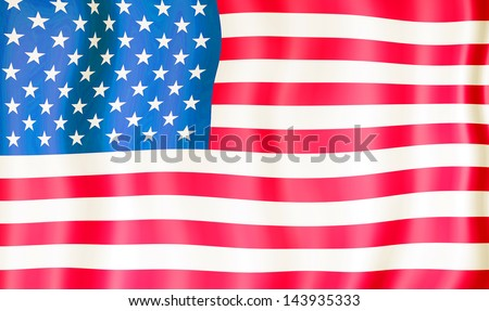 National Flag United States of America - stock photo