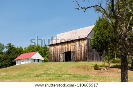 National Historic site Barns at home of Thomas Stone - stock photo