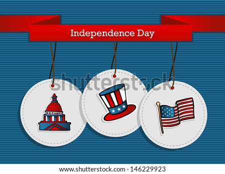 National Independence 4th July US concept background. - stock photo