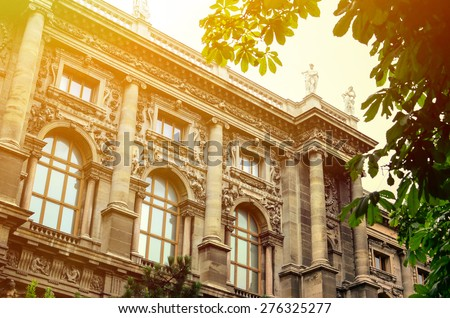 National library in Vienna Austria - stock photo