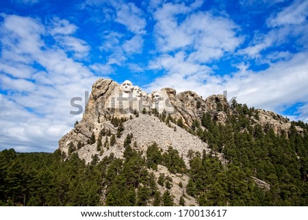 National Memorial, Mount Rushmore, South Dakota - stock photo