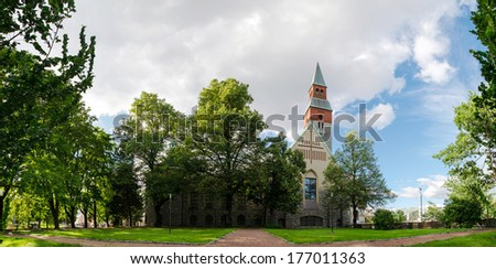 National Museum of Finland in Helsinki - stock photo