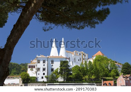 National palace of Sintra, Portugal - stock photo