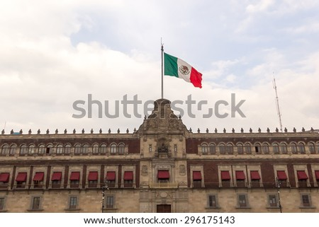 National Palace, Zocalo Downtown Mexico City - stock photo