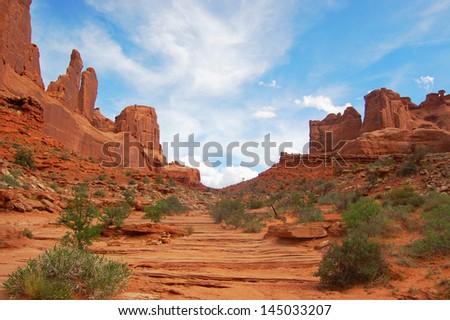 National park, canyon - stock photo