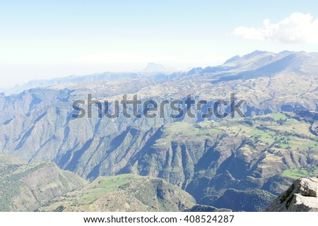 National park Simien mountains, Ethiopia - stock photo