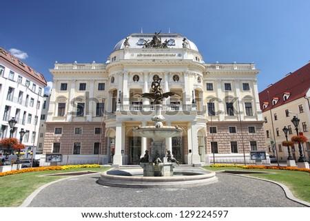 National Theater in  Bratislava, Slovakia - stock photo