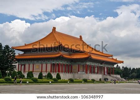 National Theater in Taipei, Taiwan. - stock photo