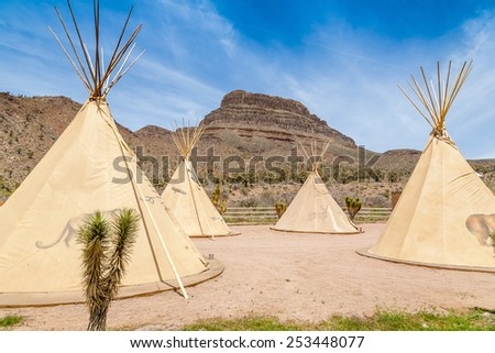 National wigwam of American Indians. Outdoor photography in Nevada, USA - stock photo