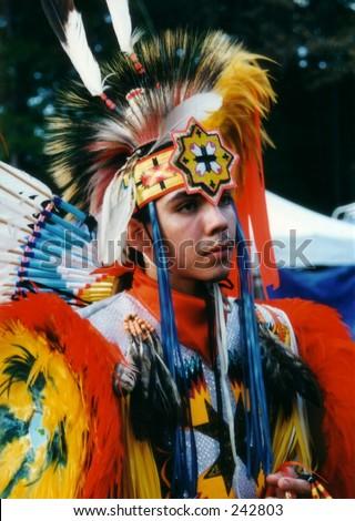 Native American Boy - stock photo