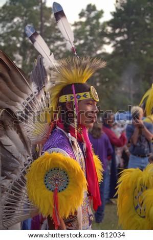 Native American Boy, Slight Film Grain Visible at Full Size - stock photo