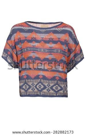 native american ornament  blouse - stock photo