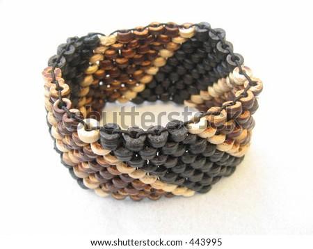 Native handmade bracelet - stock photo