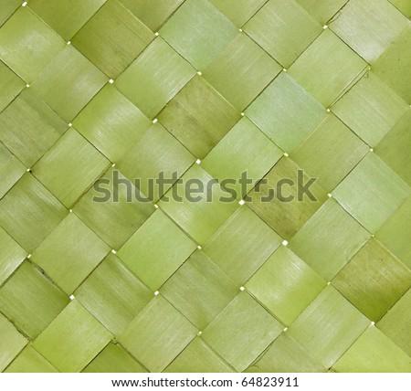 Native Thai style bamboo wall - stock photo