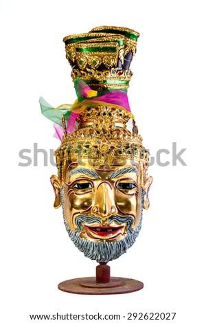Native Thai style mask, Khon - stock photo