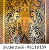 Native Thai style painting in the temple - stock photo