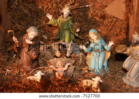 Nativity Set - stock photo