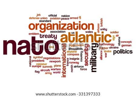 NATO word cloud - stock photo
