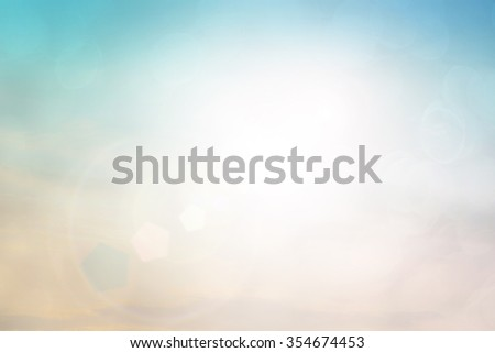 Natural background blurring.warm colors and bright sun light. bokeh background or Christmas background.Green Energy.warm sky sunny color green light patterns  plain abstract flare  evening clouds blur - stock photo