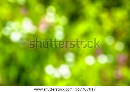 Natural background of defocused park or bokeh - stock photo