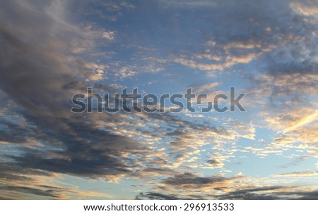 Natural background of the colorful sky, During the time sunrise and sunset - stock photo