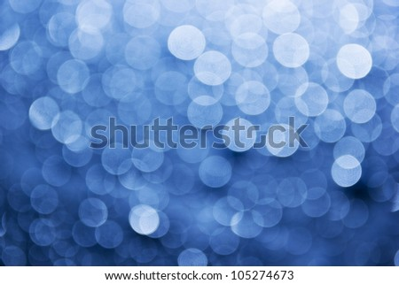 Natural blue blur abstract background with selective focus - stock photo