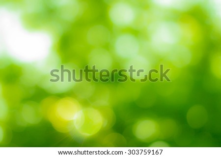 Natural blurred bokeh background from leaf and tree. - stock photo