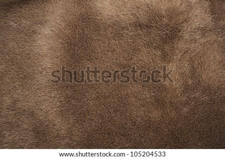 Natural brown fur texture - stock photo