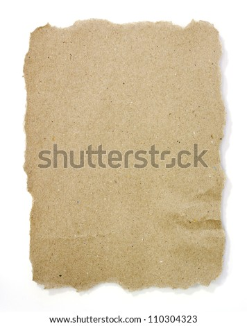 natural brown recycled paper texture background - stock photo
