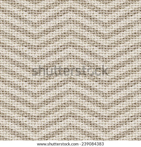 natural burlap texture digital paper with chevron  - stock photo